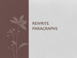 Rewrite paragraphs