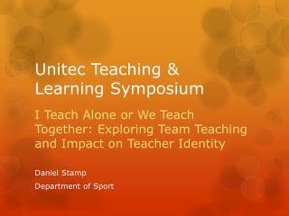 Unitec Teaching & Learning Symposium