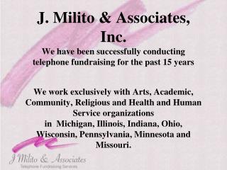 J. Milito & Associates, Inc.