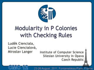 Modularity in P  Colonies with Checking Rules