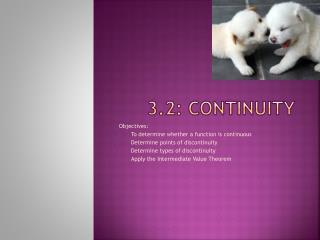 3.2: Continuity
