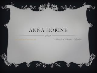 Anna  Horine