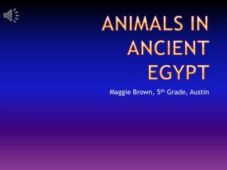 Animals in ancient Egypt