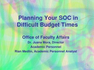 Planning Your SOC in Difficult Budget Times