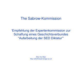The Sabrow-Kommission
