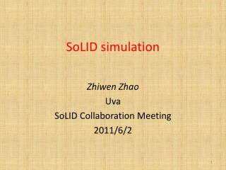 SoLID  simulation