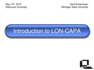 Introduction to LON-CAPA