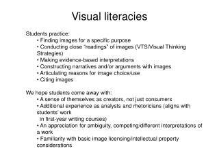Visual  literacies