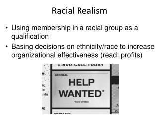 Racial Realism