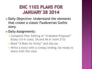 ENC 1102 Plans for  january  28  2014