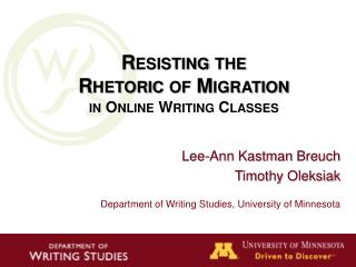 Resisting the  Rhetoric of Migration in Online Writing Classes