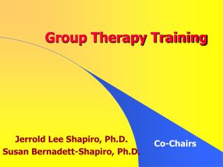 Group Therapy Training