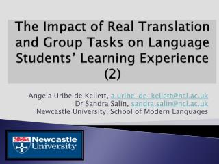 The  Impact of Real Translation and Group Tasks on Language Students' Learning  Experience (2)