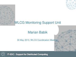 WLCG Monitoring  S upport  U nit Marian  Babik