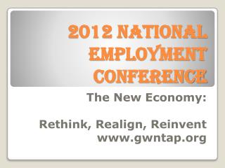 2012 National Employment Conference