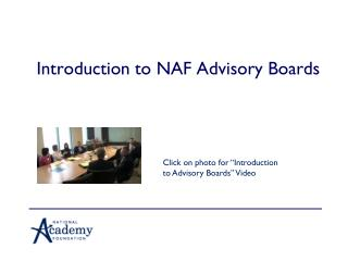 Introduction to NAF Advisory Boards