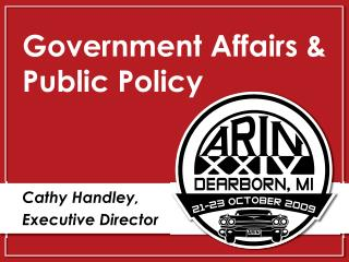 Government Affairs & Public Policy