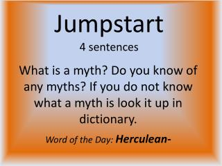 Jumpstart 4 sentences