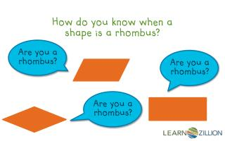 How do you know when a shape is a rhombus?
