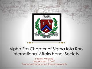 Alpha Eta Chapter of Sigma Iota Rho International Affairs Honor Society