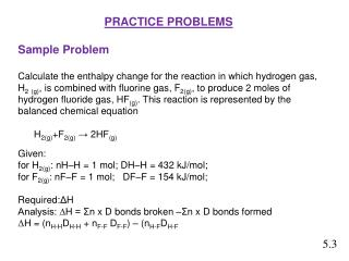 PRACTICE PROBLEMS Sample  Problem