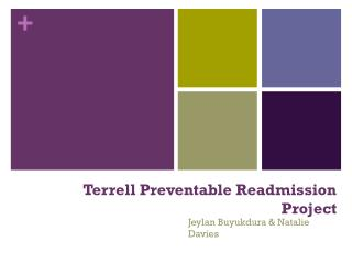 Terrell Preventable Readmission Project