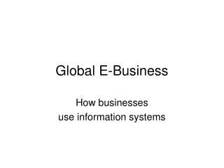 Global E-Business