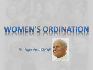 Women's Ordination