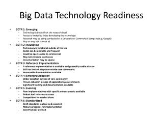 Big Data Technology Readiness