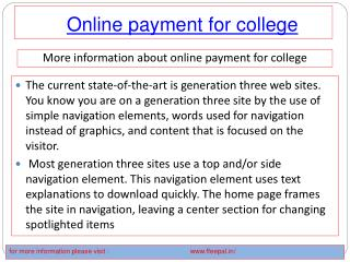 Tips on going to an online payment for college