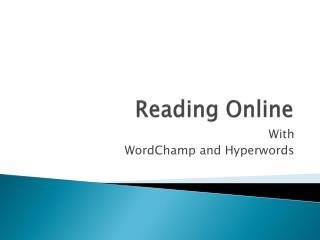 Reading Online
