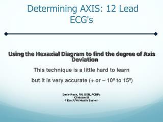 Determining  AXIS :  12 Lead  ECG's