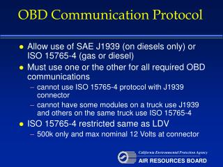 OBD Communication Protocol