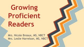 Growing Proficient Readers