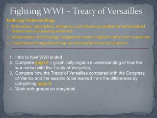 Fighting WWI – Treaty of Versailles