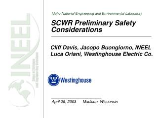 SCWR Preliminary Safety Considerations