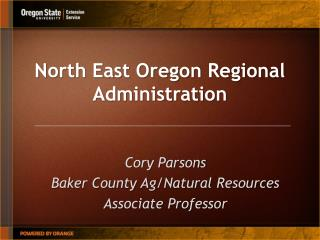North East Oregon Regional Administration