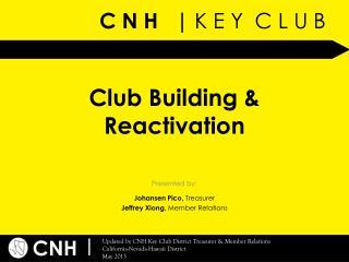 Club Building & Reactivation