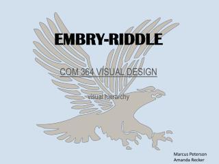 EMBRY-RIDDLE COM 364 VISUAL DESIGN visual hierarchy