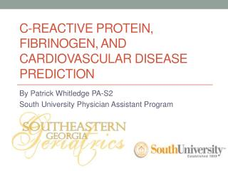 C-Reactive protein, Fibrinogen, and cardiovascular Disease Prediction