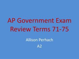 AP Government Exam  Review Terms 71-75