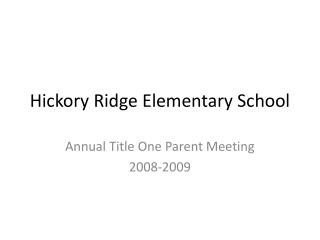 Hickory Ridge Elementary School
