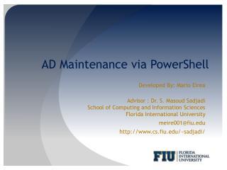 AD Maintenance via PowerShell