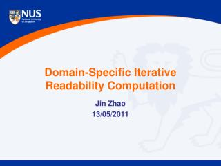 Domain-Specific Iterative Readability Computation