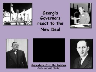 Georgia Governors react to the New Deal
