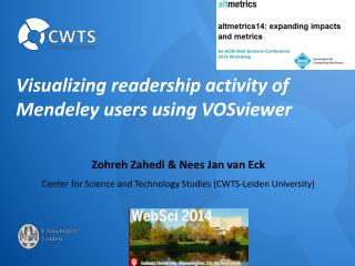 Visualizing readership activity of  Mendeley  users using  VOSviewer