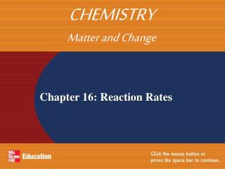 Chapter 16: Reaction Rates