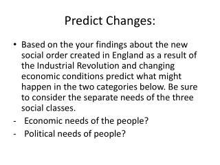Predict Changes: