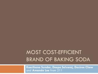 Most cost-efficient brand of baking soda