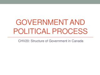 Government and Political Process